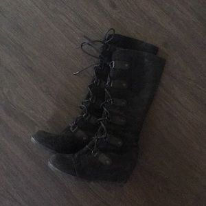Black Sorel Joan of Arctic Tall Boots